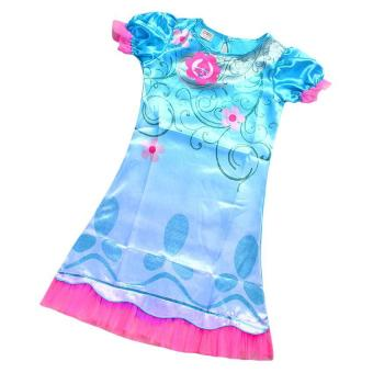 Kisnow Trolls Girl 4-14 Years Old 105-155cm Body Height Super LightDresses(Color:Sky Blue) - intl