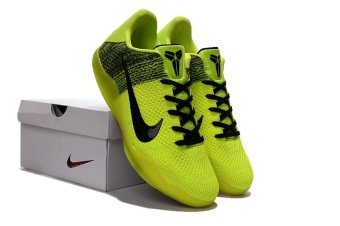 Kobe Bryant 11 generation Kobe68 basketball shoes official Blackfluorescent green - intl Price Philippines