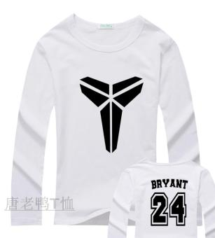 Kobe Bryant library basketball I long-sleeved t-shirt (Kobe Bryant 24 white)