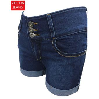 Korea High waist denim shorts female jeans - 4