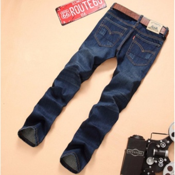 Korea Leisure Loose Straight Jeans For Men Denim Jeans Trousers Plus Size Big Large Pants 28-38 - intl - 4