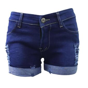 Korea Tattered Classic Ripped Skinny jeans shorts - 2