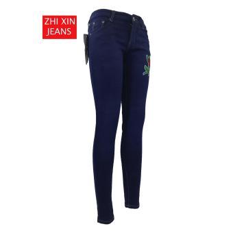 korea Women's Classic Skinny Jeans BLUE - 4