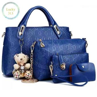 Korean 4 in 1 Fashion Elegant Shoulder bag (Blue)