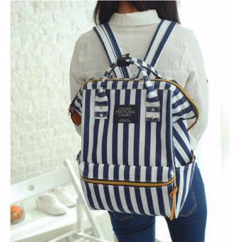Korean Bag Stripes Backpack with Top Holder Canvas Backpack LivingTraveling Share School Bag Casual Backpack Price Philippines