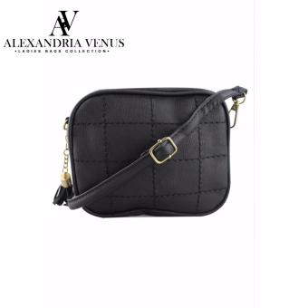 Korean Fashion Bag Tassel Chain Bag Synthetic Leather Black SlingBag Alexandria