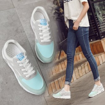 Korean Fashion Running Shoes Trendy Casual Shoes Harajuku Students at the End of the New Shoes Thick Brush Color Shoes - intl