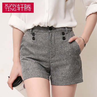 Korean female slimming shorts gray shorts