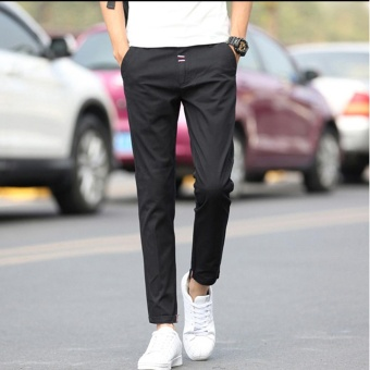 Korean Men's Casual Pants Fruit Color Leisure Pants Fashional NinePants For Men Slim Trousers Skinny Pants - intl - 2