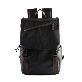 Korean Middle School Back Pack Men Men Backpack Leather Leisure Men Bag Travel Laptop Bag Korean - intl(...)