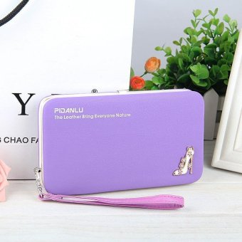 Korean Multi-function Long Wallets Mobile Phone Bag Women Wallet -Purple - intl