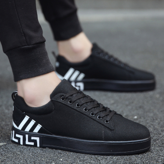 Korean-style autumn casual shoes men shoes (Black)