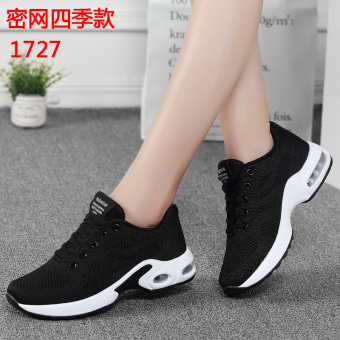 Korean-style breathable network autumn shoes mesh sports casual shoes (1727 dense network of black)