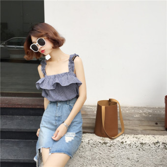 Aa Slim Fit Strap Top Small Vest Source · Korean style chiffon New .