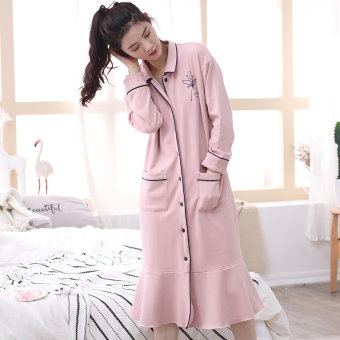 Korean-style cotton female Spring and Autumn pajamas lingerie