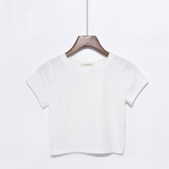 Korean-style cotton summer shirt Top (White Color)