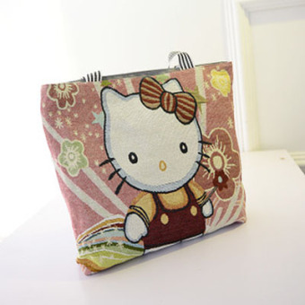 Korean-style embroidered shoulder large bag handbag (KT cat)