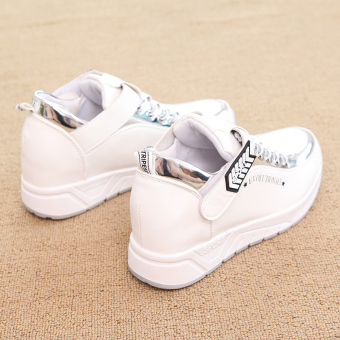 Korean-style female autumn New style heavy-bottomed sports shoes white shoes (White)