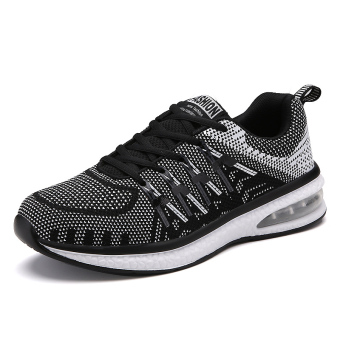 Korean-style female breathable spring and fitness shoes athletic shoes (196 couple's black)