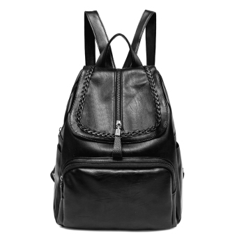 Korean-style female New style Soft leather bag backpack