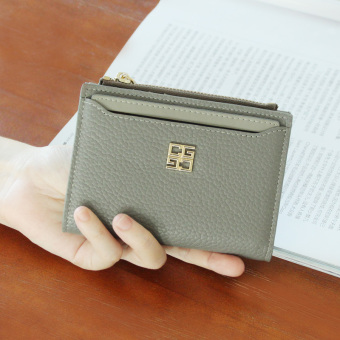 Korean-style female New style women's wallet small wallet (Gray)