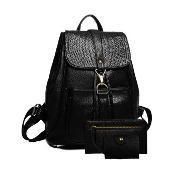 Korean-style female Pu backpack