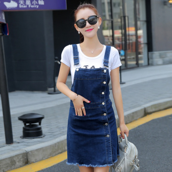 Korean-style female Slim fit A-line dress cowboy dress
