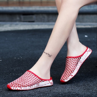Korean-style flat mesh shoes porous shoes ([660] Bai Hong) ([660] Bai Hong)
