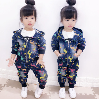 Korean-style girls Spring and Autumn children's jeans