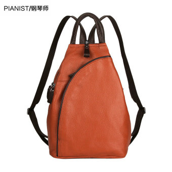 Korean-style leather female New style bag backpack (Brown with PARK'S new color)
