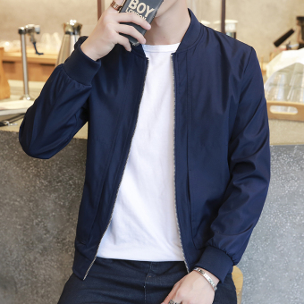 Korean-style men spring New style men's jacket spring and autumn jacket (3166 dark blue)