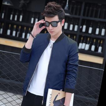 Korean-style men thin student baseball clothes New style jacket (2609 dark blue)