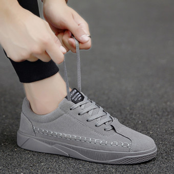 Korean-style men's boys shoes men shoes (0012 gray)