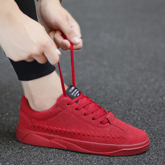 Korean-style men's boys shoes men shoes (0012 red)