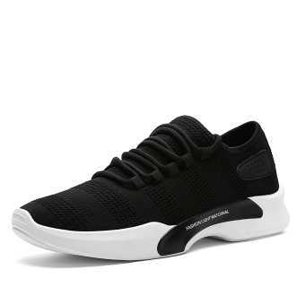 Korean-style mesh male sports shoes autumn men's shoes (5588 black)