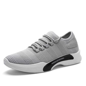 Korean-style mesh male sports shoes autumn men's shoes (5588 gray)
