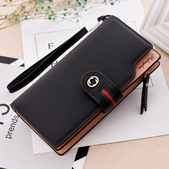Korean-style multi-functional large capacity hook clutch bag New style women's wallet (Classic black)