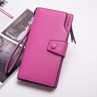 Korean-style multi-functional large capacity hook clutch bag New style women's wallet (Plum red)