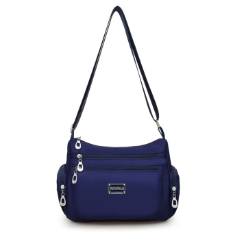 Korean-style new New style shoulder messenger bag waterproof nylon bag (Navy Blue)