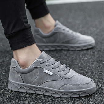 Korean-style New style autumn men shoes (Gray)
