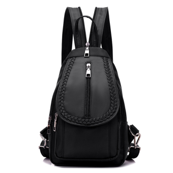 Korean-style New style chest pack canvas bag (Large black 5061 multi-functional)