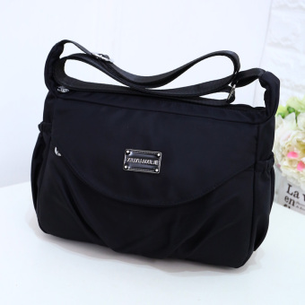 Korean-style New style cloth bag waterproof nylon bag (Black)