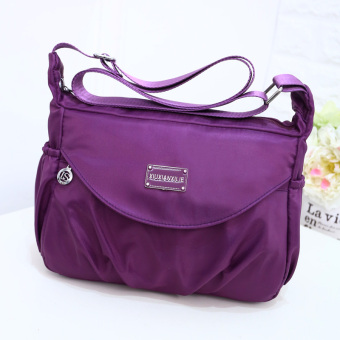 Korean-style New style cloth bag waterproof nylon bag (Grape purple)