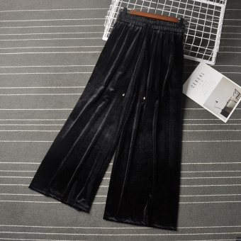 Korean-style New style high-waisted slimming pants (Black)