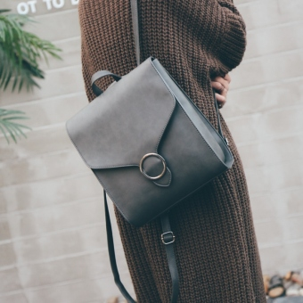 Korean-style New style shoulder bag (Gray)