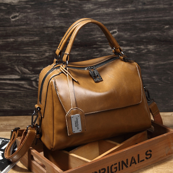 Korean-style New style shoulder Portable Bag women's bag (Camel Brown)
