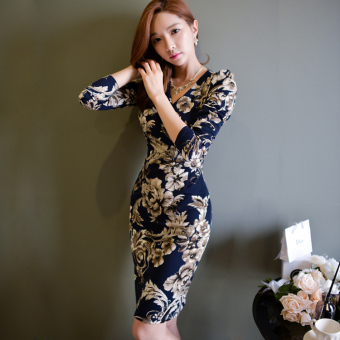 Korean-style New style temperament V-neck short dress