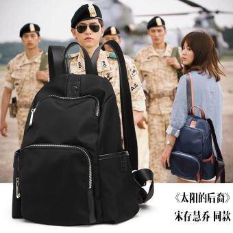 Korean-style Oxford Cloth New style nylon canvas women's bag mommy bag (Small black)