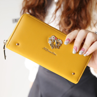Korean-style riveted New style lovely leather wallet women's long wallet