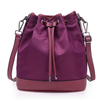 Korean-style shoulder portable shoulder large bag women's bag (Purple)